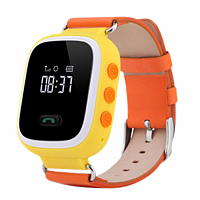 Смарт часы с GPS Smart Baby Watch q60S оранжевые